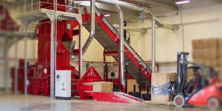 Baling presses for paper & waste from paper production | HÖCKER POLYTECHNIK